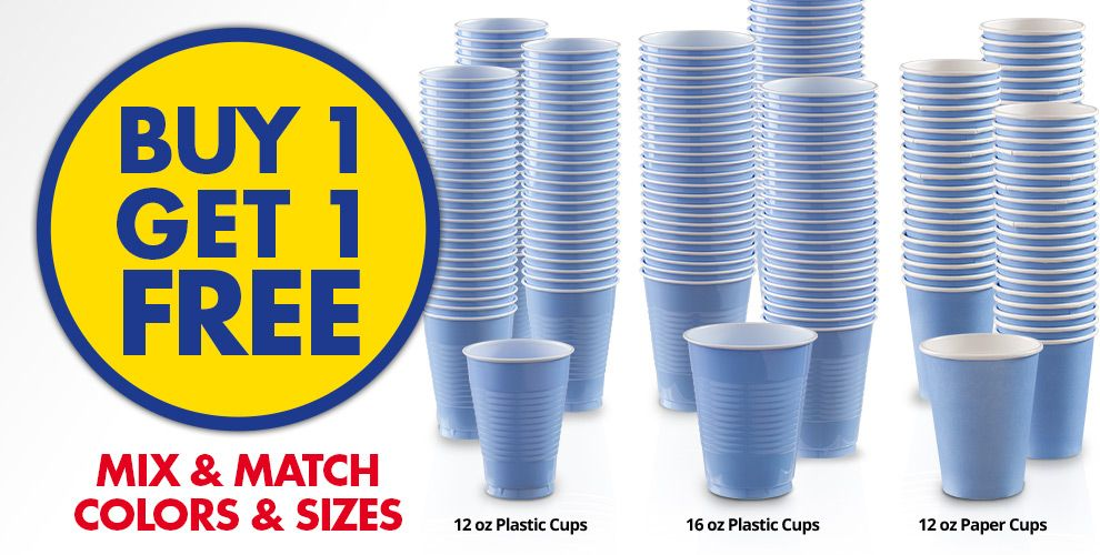 Buy 1 Get 1 Free – Mix & Match Colors &amp Sizes — Pastel Blue Tableware