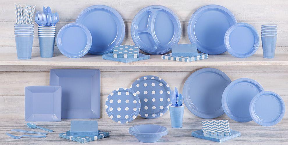 Pastel Blue Tableware