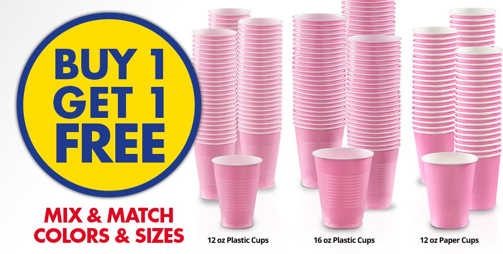 Buy 1 Get 1 Free – Mix & Match Colors &amp Sizes — Pink Tableware