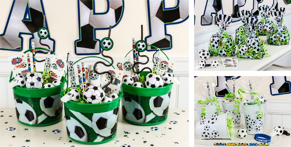 Soccer Party Favors Whistles Bounce Balls Wristbands