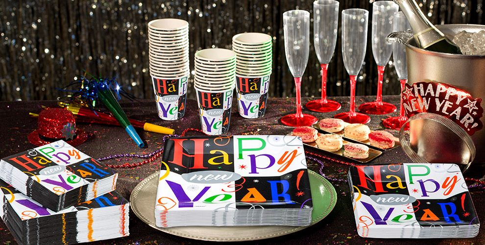 Colorful New Year's Block Party Tableware