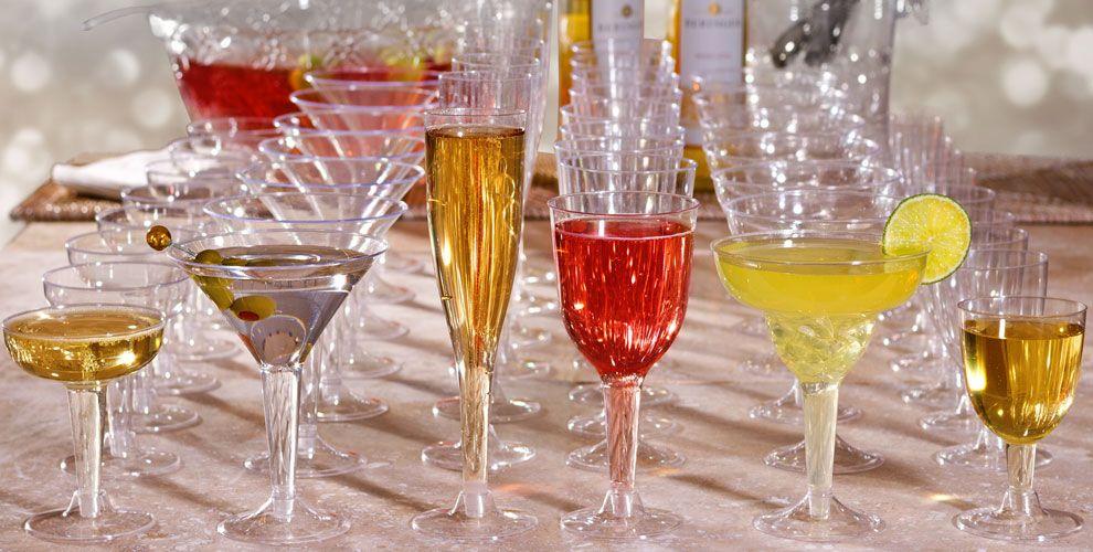 Plastic Cups & Stemware - Plastic Stemware, Wine Glasses & Flutes ...
