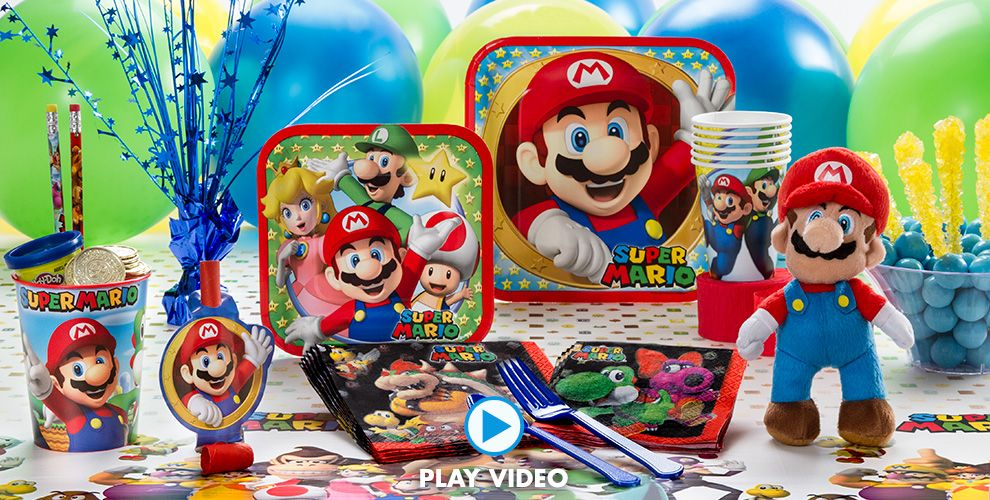 Super Mario Party Supplies - Super Mario Birthday Ideas | Party City