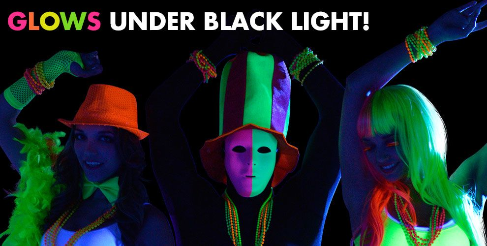Black Light Party Supplies — Glows under black light!