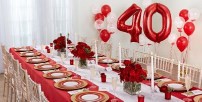 Ruby th wedding anniversary party supplies party city