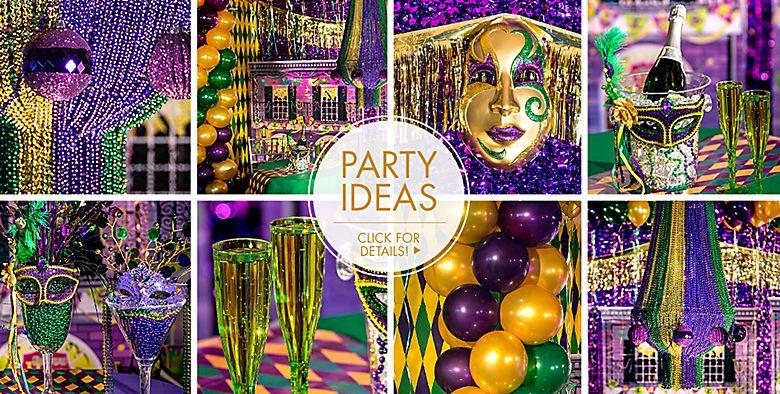 Mardi Gras Decorations Party Ideas