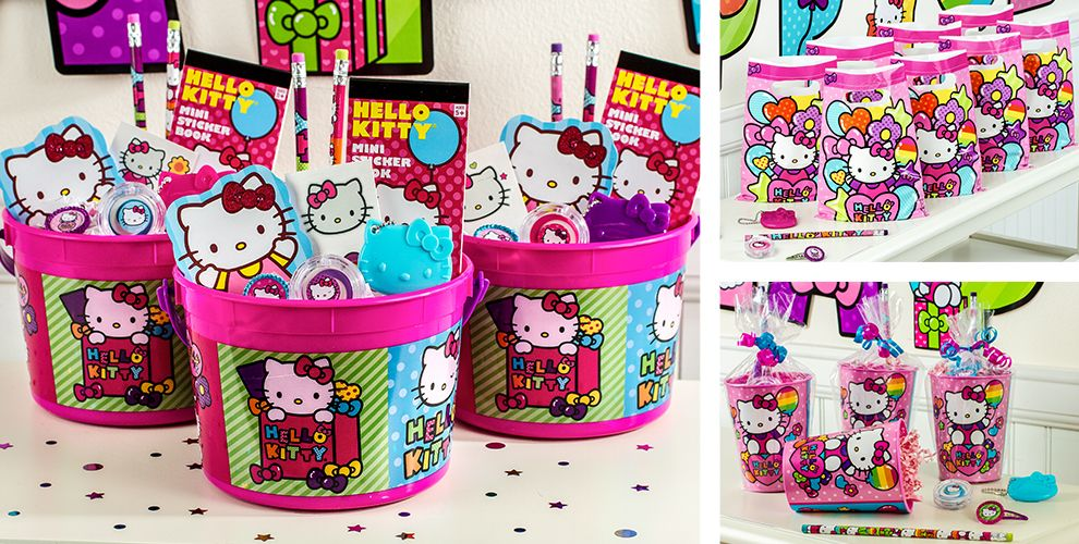 Hello Kitty Party Favors Stickers Pencils Bubbles