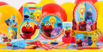 Patterned Tableware 50% off MSRP u2014 Sesame Street Party Supplies # ... : sesame street paper plates - Pezcame.Com