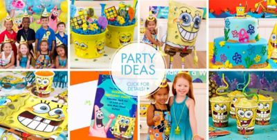 SpongeBob Party Supplies SpongeBob Birthday Ideas Party City Canada