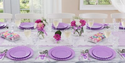 Lavender Tableware; Lavender Tableware; Lavender Tableware; Lavender Tableware & Lavender Tableware - Lavender Party Supplies | Party City