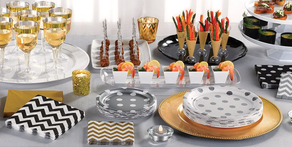Patterned Tableware 50% Off MSRP — Black Polka Dot Party Supplies