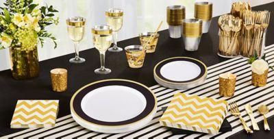 Black Tableware; Black Tableware; Black Tableware ... & Black Tableware - Black Party Supplies | Party City