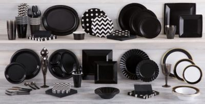 Black Tableware; Black Tableware ... & Black Tableware - Black Party Supplies | Party City
