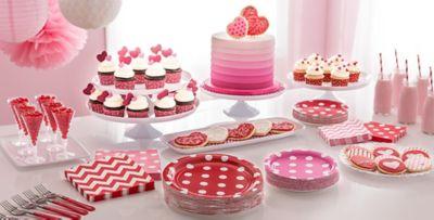 ... Patterned Tableware 50% Off MSR \u2014 Pink Polka Dot Party Supplies & Pink Polka Dot \u0026 Chevron Tableware | Party City