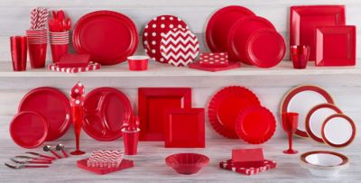 Red Tableware ...
