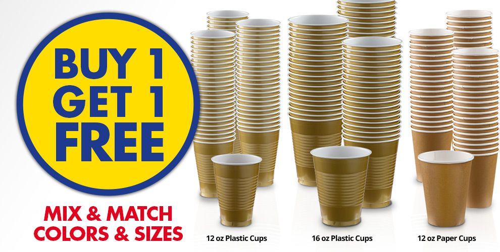 Buy 1 Get 1 Free – Mix & Match Colors &amp Sizes — Gold Tableware
