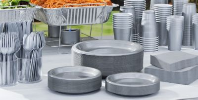 Silver Tableware; Silver Tableware ... & Silver Tableware - Silver Party Supplies | Party City