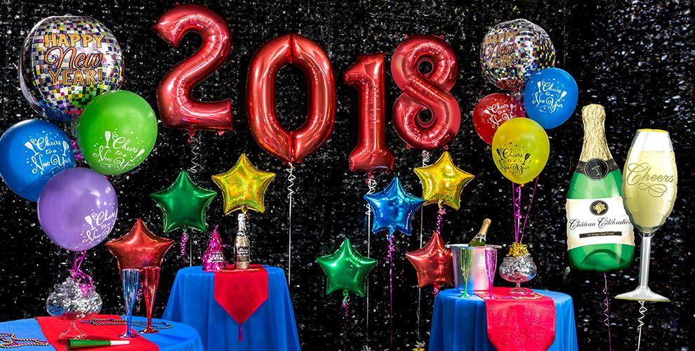 Colorful Brights New Years Eve Balloons