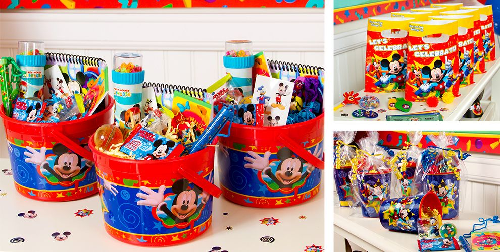 Mickey mouse party favors candy games toys stationery more mickey mouse party favors negle Image collections