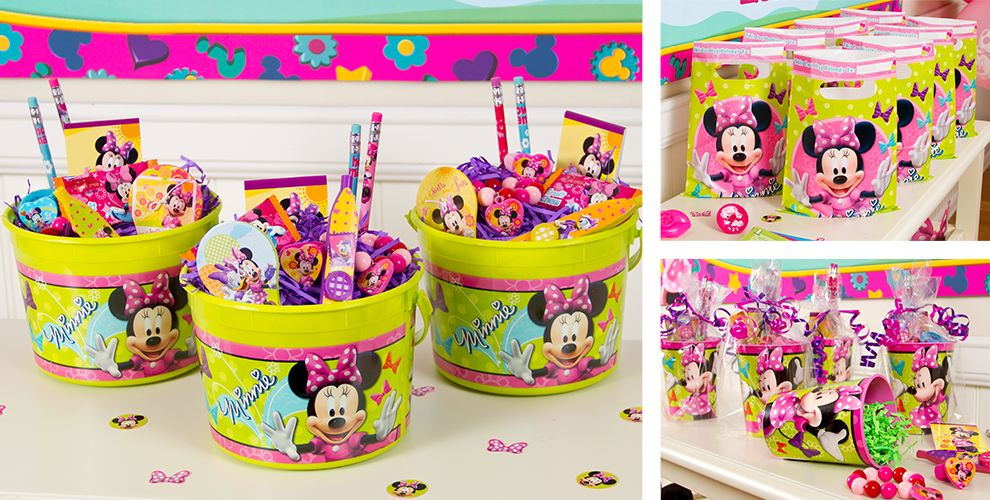 Minnie Mouse Party Favors Stickers Bracelets Crayons More