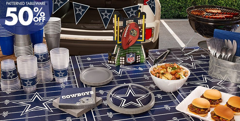 NFL Dallas Cowboys Party Supplies - 50% Off Patterned Tableware MSRP