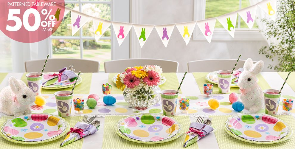 Eggstravaganza Easter Party Supplies 50% off Patterned Tableware MSRP