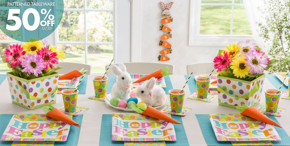 Easter Expressions Party Supplies 50% off Patterned Tableware MSRP