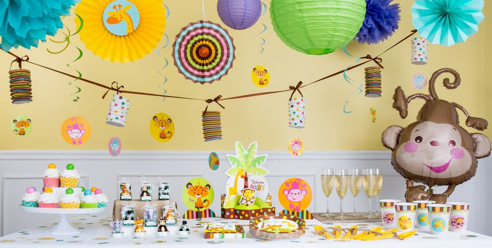 Fisher-Price Jungle Baby Shower Party Supplies