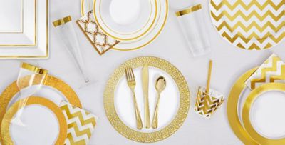 White Gold Premium Tableware - Gold Trim Premium Plastic Plates ... White Gold Premium Tableware Gold Trim Premium Plastic Plates  sc 1 st  Best Image Engine & Terrific Clear Plastic Plates With Gold Rim Pictures - Best Image ...