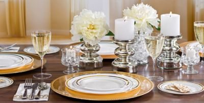 White Gold Premium Tableware - Gold Trim Premium Plastic Plates . & Terrific Clear Plastic Plates With Gold Rim Pictures - Best Image ...