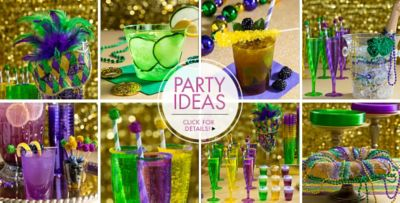 ... Mardi Gras Party Ideas u2013 Click here for details & Mardi Gras Plastic Party Supplies | Party City