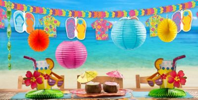 Beautiful Beach Theme Party Decorating Ideas Part - 11: ... Summer Splash Party Supplies