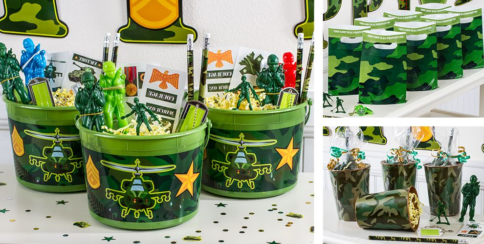 Camouflage party favors toys tattoos games more party city camouflage party favors negle Image collections