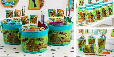 ScoobyDoo Party Favors Tattoos Magnifying Glasses Keychains