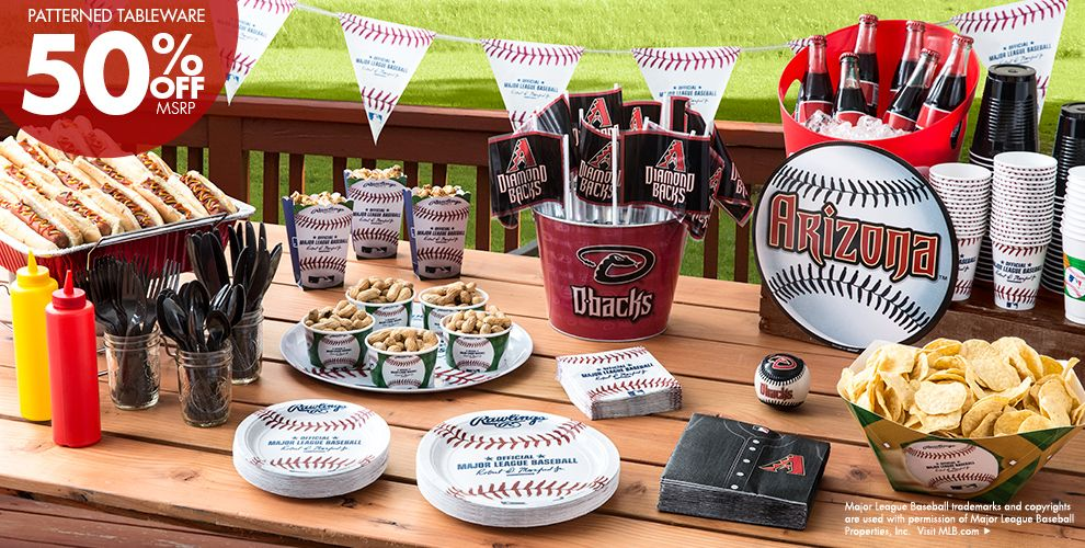 MLB Arizona Diamondbacks Party Supplies 50% off Patterned Tableware MSRP