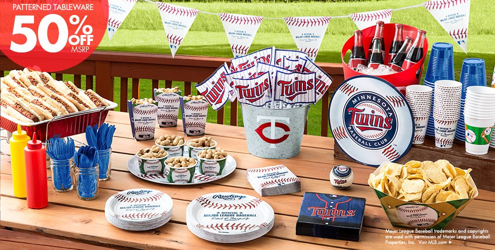 Patterned Tableware 50% off MSRP — MLB Minnesota Twins Party Supplies