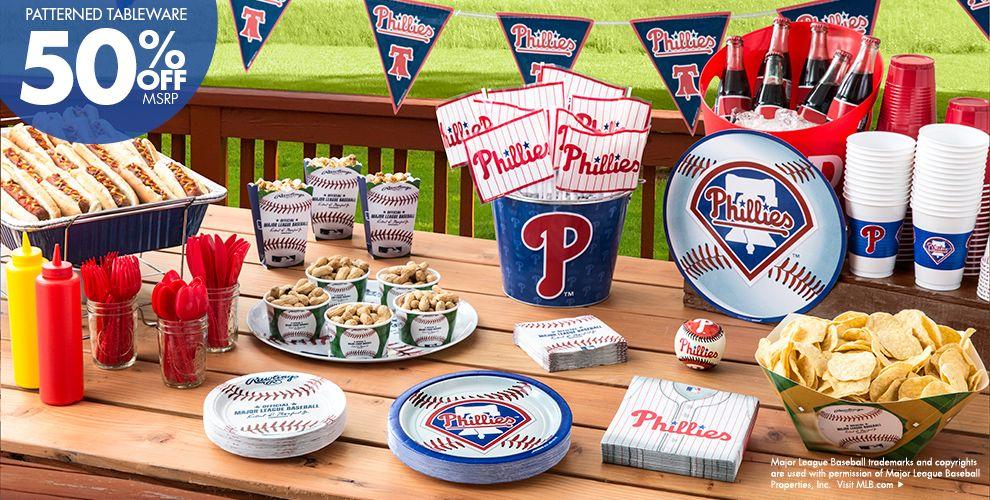 Patterned Tableware 50% off MSRP &mdash; MLB Philadelphia Phillies Party Supplies></li> <li class=