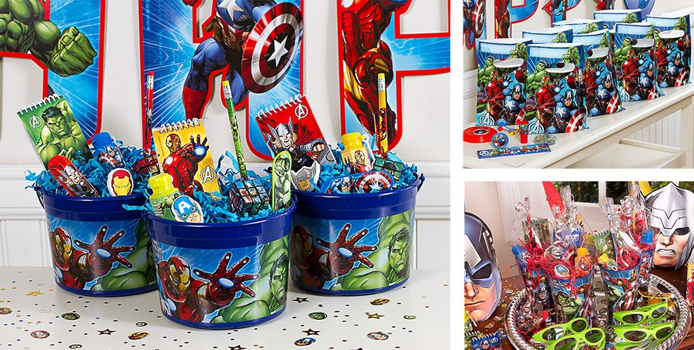 Toys From Party City : Avengers party favors stickers tattoos toys games