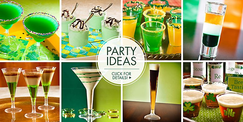 St. Patrick's Day Drinkware, Serveware - Party Ideas