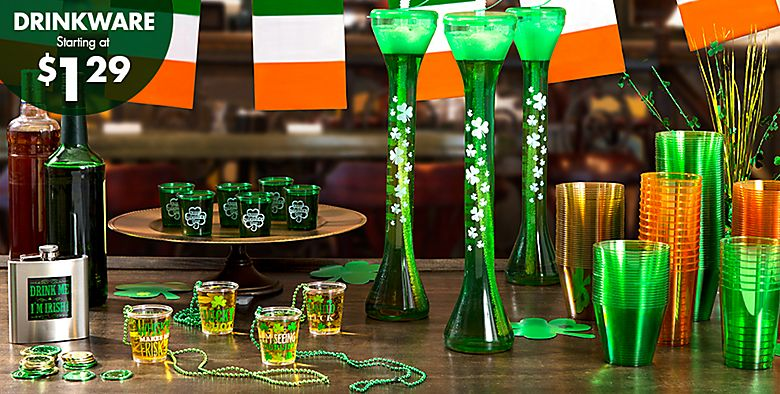 St. Patrick's Day Drinkware starting at $1.29