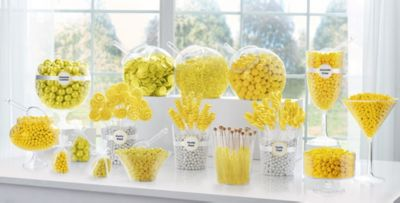 yellow candy buffet supplies yellow candy containers party rh partycity com yellow candy buffet ideas blue and yellow candy buffet ideas