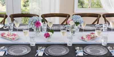 ... Disposable; CLEAR Premium Tableware & CLEAR Premium Tableware - Clear Premium Plastic Plates | Party City