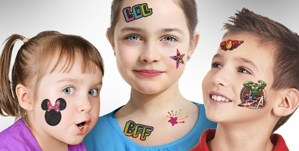 temporary tattoos for boys girls party city