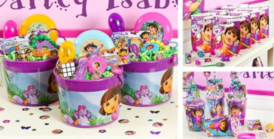 Dora the Explorer Party Favors Stickers Toys Jewelry Candy
