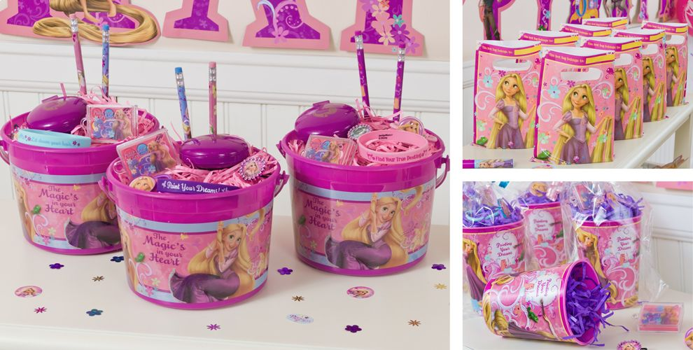 Tangled party favors bracelets candy favor bags more party city negle Image collections