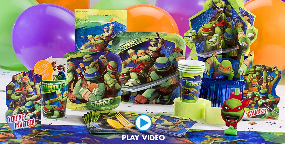 Teenage mutant ninja turtles party supplies ninja turtle for Tmnt decorations