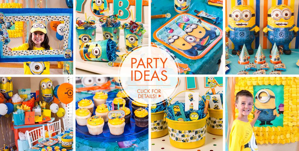 despicable me minions party supplies minions birthday. Black Bedroom Furniture Sets. Home Design Ideas