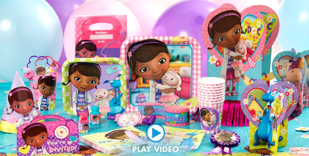 Doc McStuffins Party Supplies - Doc McStuffins Birthday Ideas ...