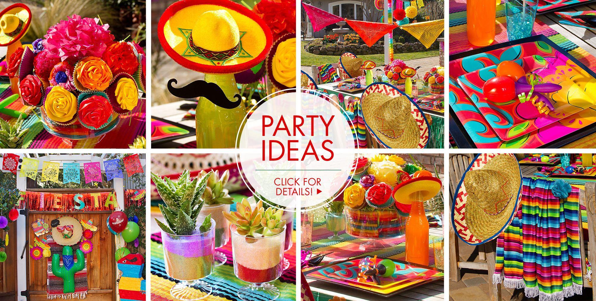 Fiesta cinco de mayo decorations decorations party city for Party accessoires