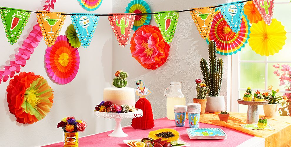 Fiesta cinco de mayo decorations decorations party city - Cinco de mayo party decoration ideas ...
